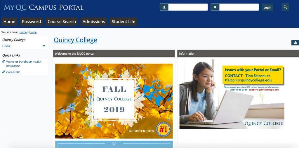 Review on the myQC Campus Portal
